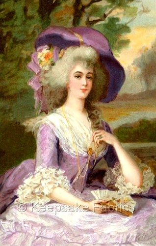 Lovely Marie Antoinette Quilt Block Multi Sizes FrEE ShiPPinG WoRld WiDE (M51