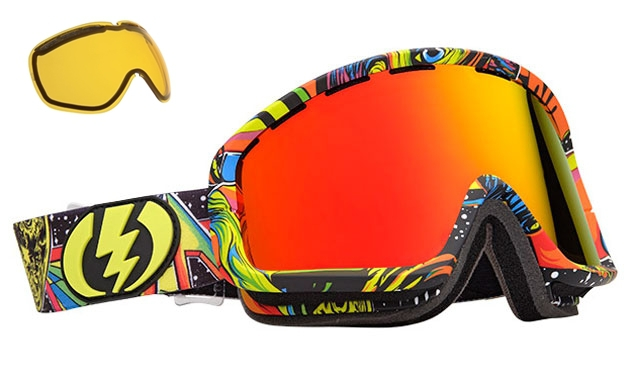 electronic ski goggles  NEW Electric EGB2 mirror \u0026amp; extra lens mens wide angle ski ...