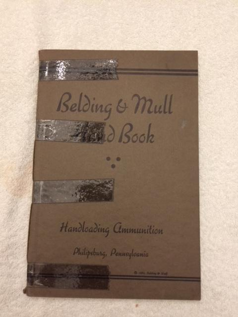 1936 Belding & Mull Hand Book, Reloading, 1st Ed-img-0