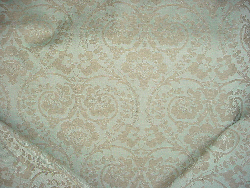 1 5 8y Kravet Lee Jofa Taupe Mint Green Floral Blossom Damask