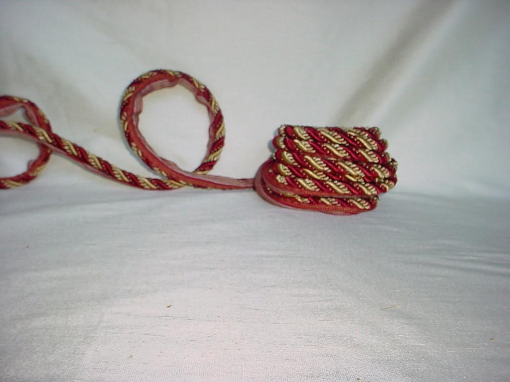 "4 yards soft COBALT BLUE velvet hollow cord cording string minimal stretch 1//4/"""