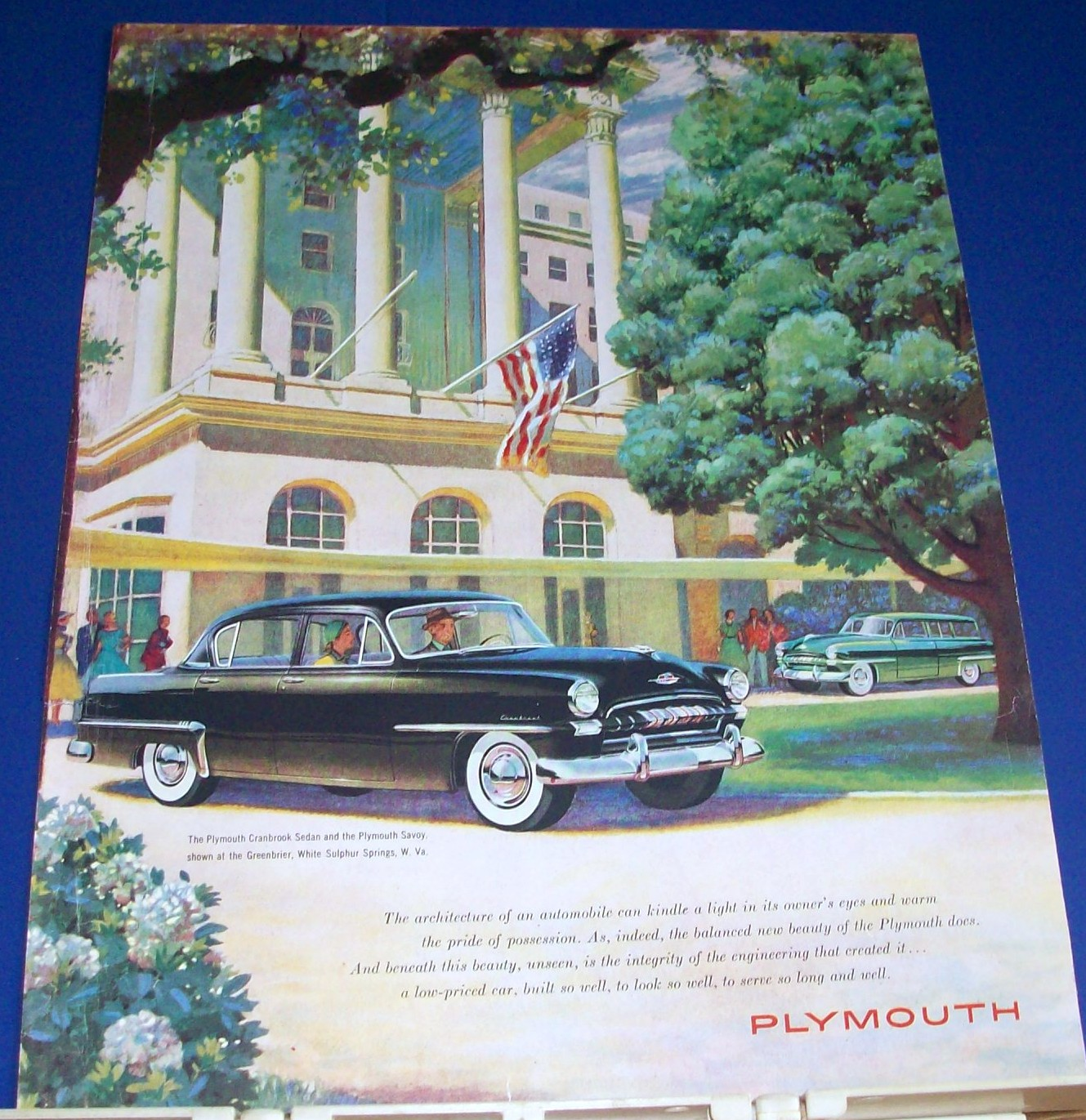 1953 Plymouth Cranbrook Sedan @ Greenbrier Ad. Perfect for framing!