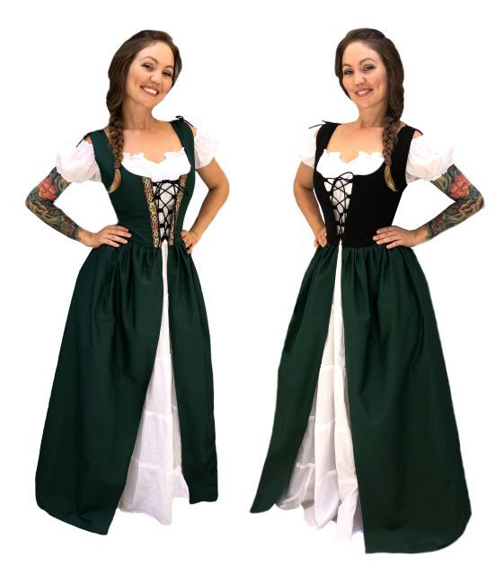 Renaissance Medieval Celtic Princess Costume Bodice Chemise Irish