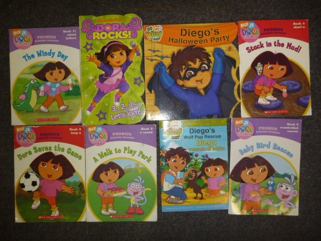 this auction is for a mix unsorted lot of 10 dora the explorer go diego go english language kids books books range from very goodmintsome might be new