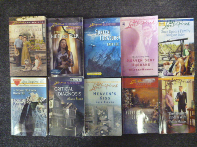 Lot Of 10 Love Inspired Christian Suspense Romance Popular Pb Books