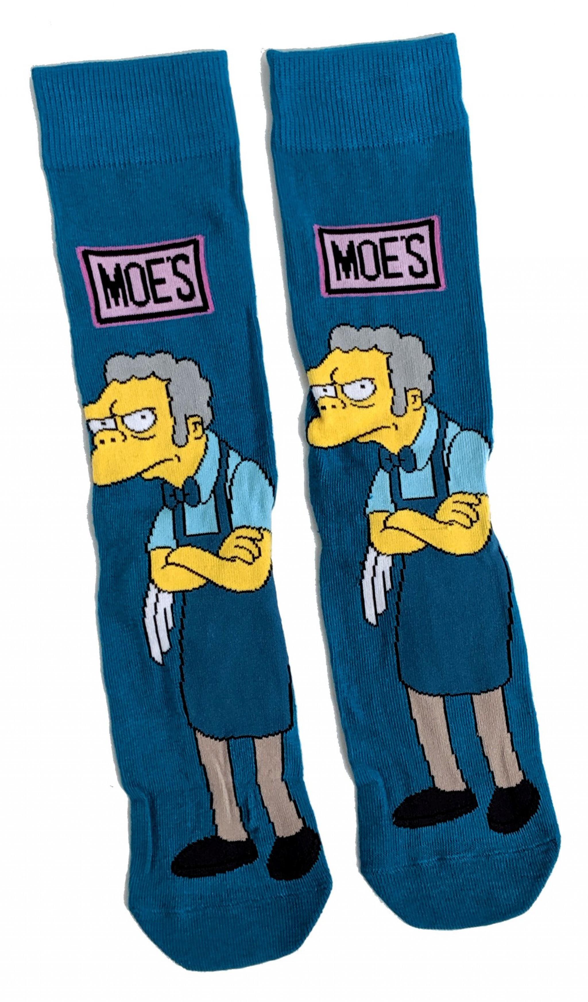 MENS THE SIMPSONS MOE/'S TAVERN SOCKS UK 6-11 EUR 39-45 US 7-12