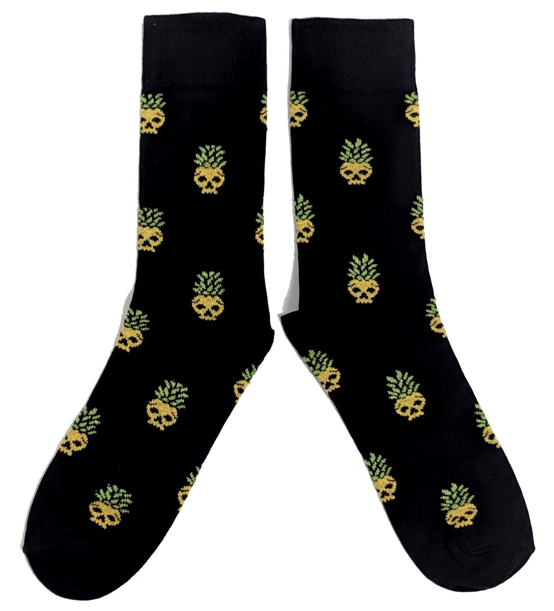 Herren Ananas Schädel Schwarze und gelbe Socken Eur 39-45