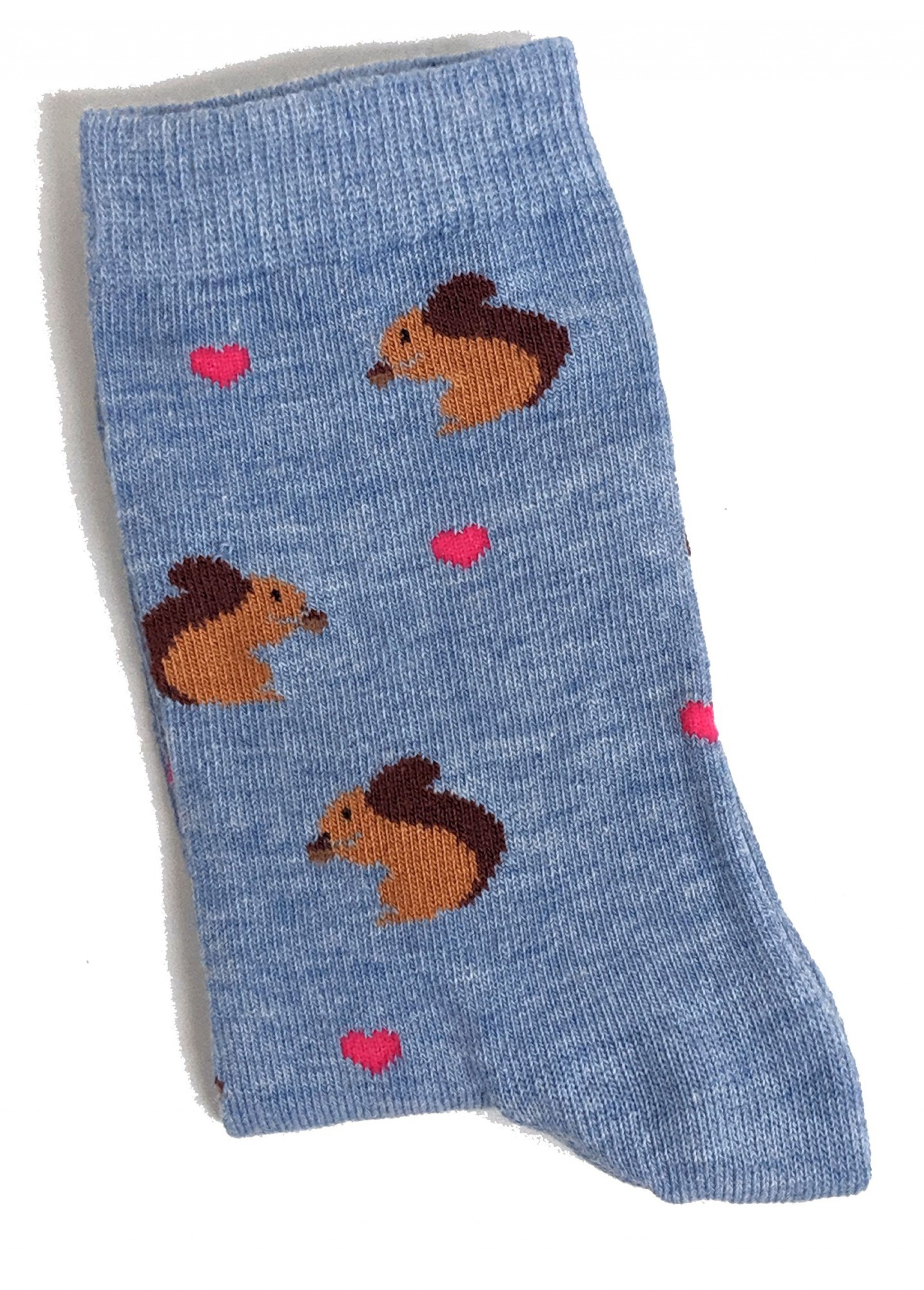 37-42 Eur Ladies Scurry Of Squirrels Midnight Blue Socks 4-8 UK 6-10 US